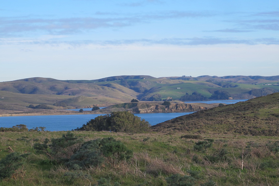 View from the Pacific plate across Tomales Bay to the North American plate