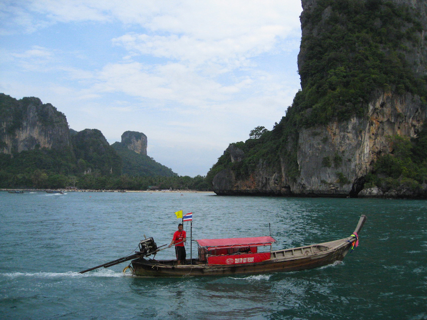 Arriving by boat in Railay